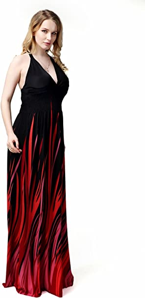 HDYS El vestuario de la mujer Bohemia vestir falda larga colgando ...