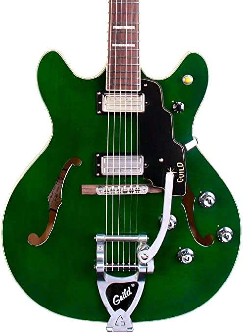 Hermandad Starfire V arce Semi hueca guitarra eléctrica,