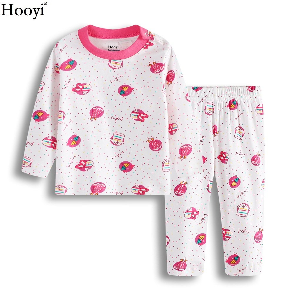 Amazon.com: Hooyi Baby Girl Cotton Red Dot Long Sleeve Pijamas Suit: Clothing