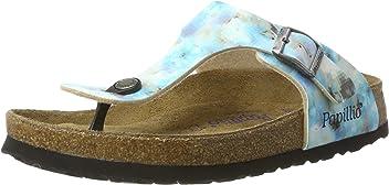 5e7277f1dab Papillio Women s Gizeh Soft Footbed Sandals150  Regular Width Pixel UK 4.5  Blue