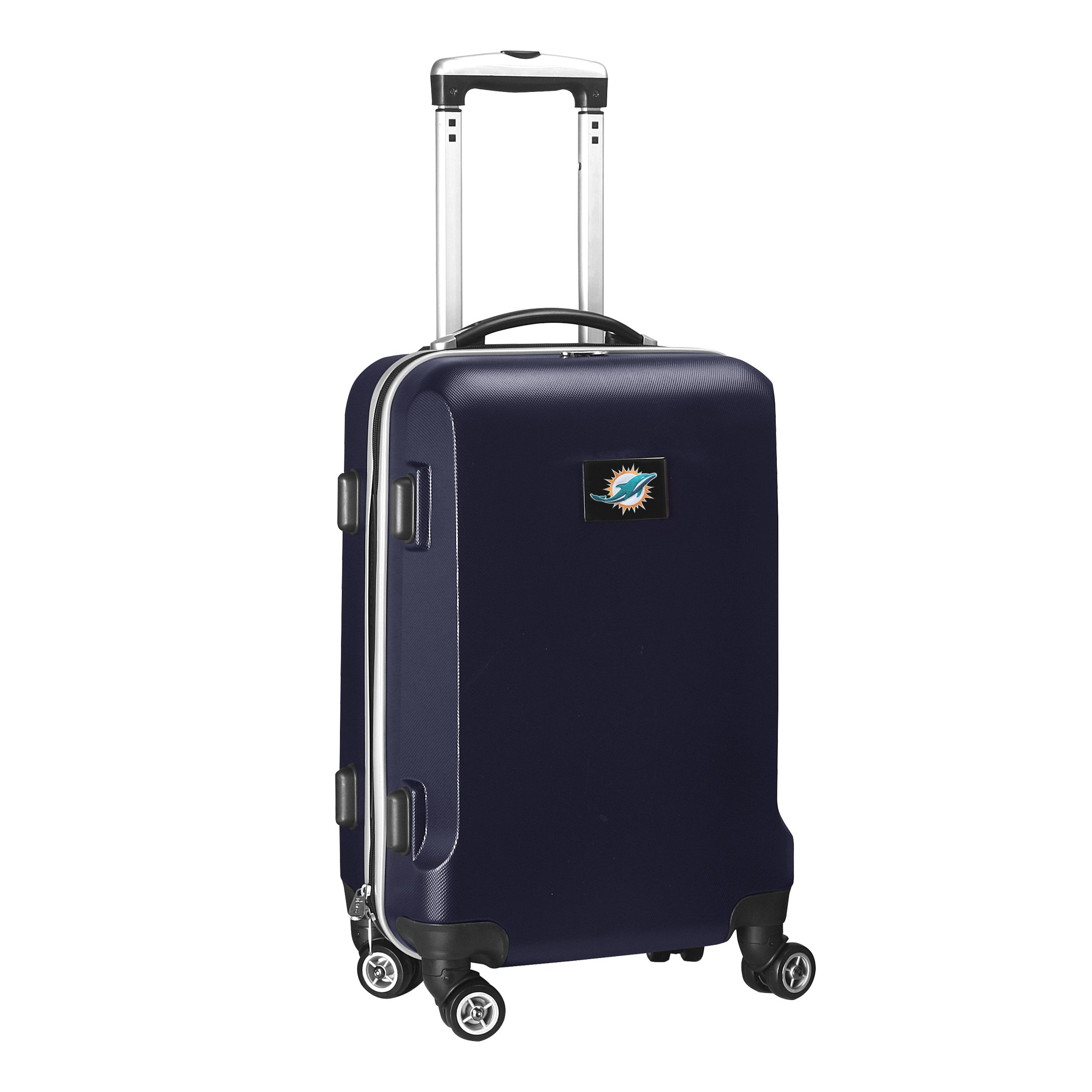 Denco NFL Miami Dolphins Carry-On Hardcase Luggage Spinner, Navy by Denco (Image #2)