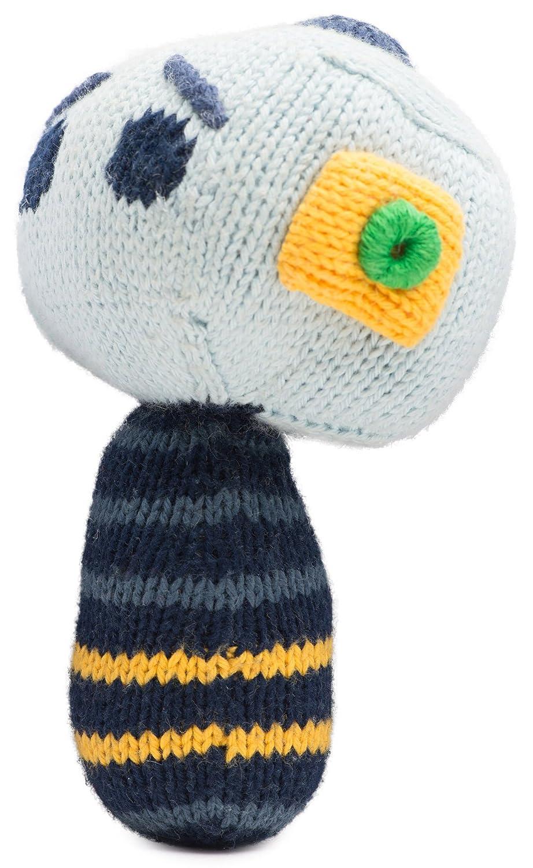 Emma Mini Rattle Organic Cotton Knit Rattle for Baby Boy or Girl Finn Hugo B03-0904a