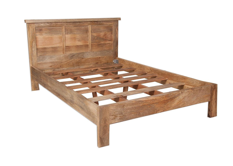 odisha Rustikal Mango Holz King Size-Bett//Nur massives Mangoholz 5 ...