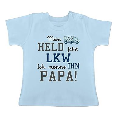 Spruche Baby Mein Held Fahrt Lkw Baby T Shirt Kurzarm