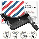 Peigne pochoir barbe homme par Sapiens - Accessoire de guide de rasage pour contour barbe avec manuel d'utilisation imprimé et ebook - Garantie 2 ans