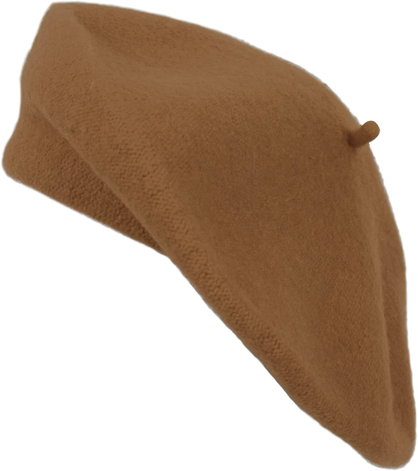 Brown Classic Solid Color Wool French Beret