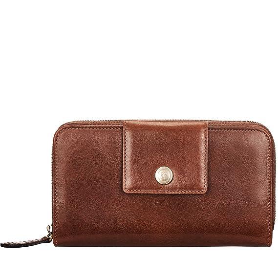 Maxwell-Scott® Premium Quality Handcrafted Italian Full Grain Tan Leather  Extra Large Zip Around 02e832261b67