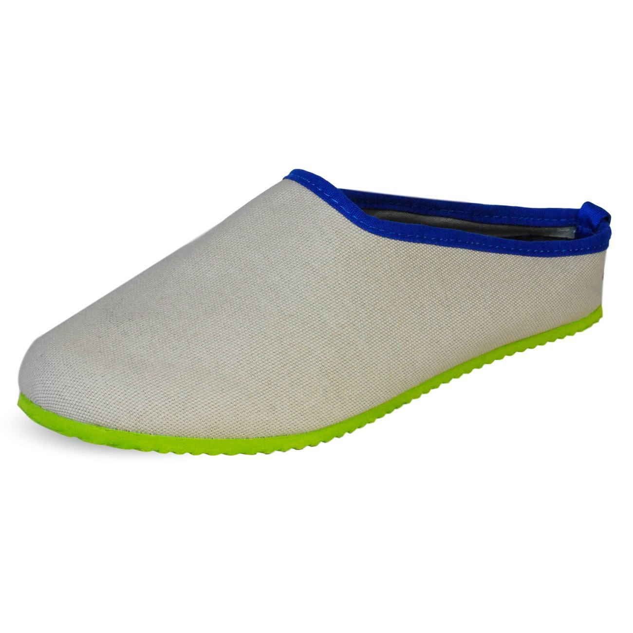 PantOUF Biarritz Chaussons pour Femme/Homme Chaussons (Taille Petit) B00ZP324CO Beige Biarritz Clair/Vert/Bleu 1dd36ae - fast-weightloss-diet.space