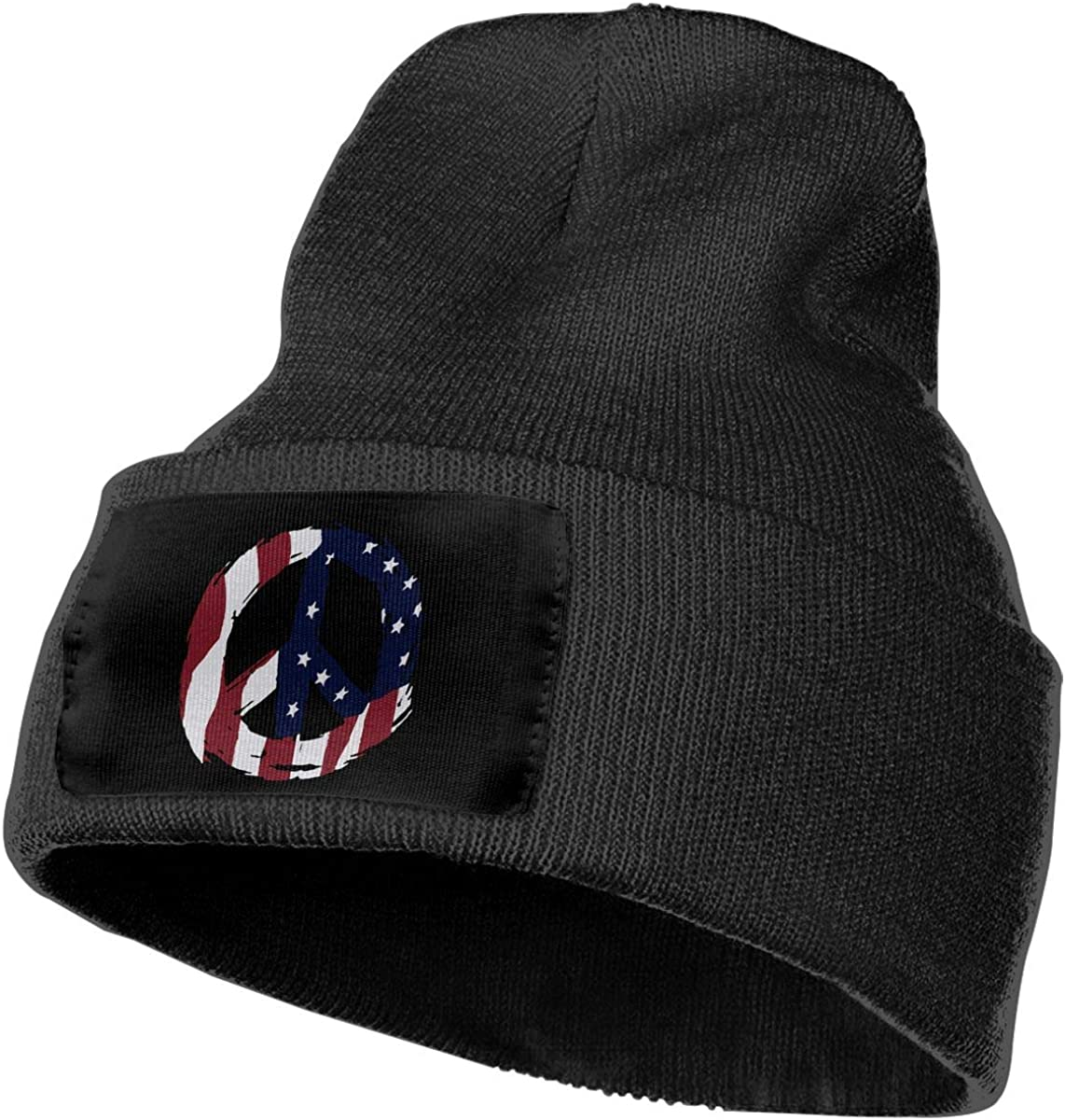 COLLJL-8 Men//Women American Flag Peace Outdoor Stretch Knit Beanies Hat Soft Winter Knit Caps