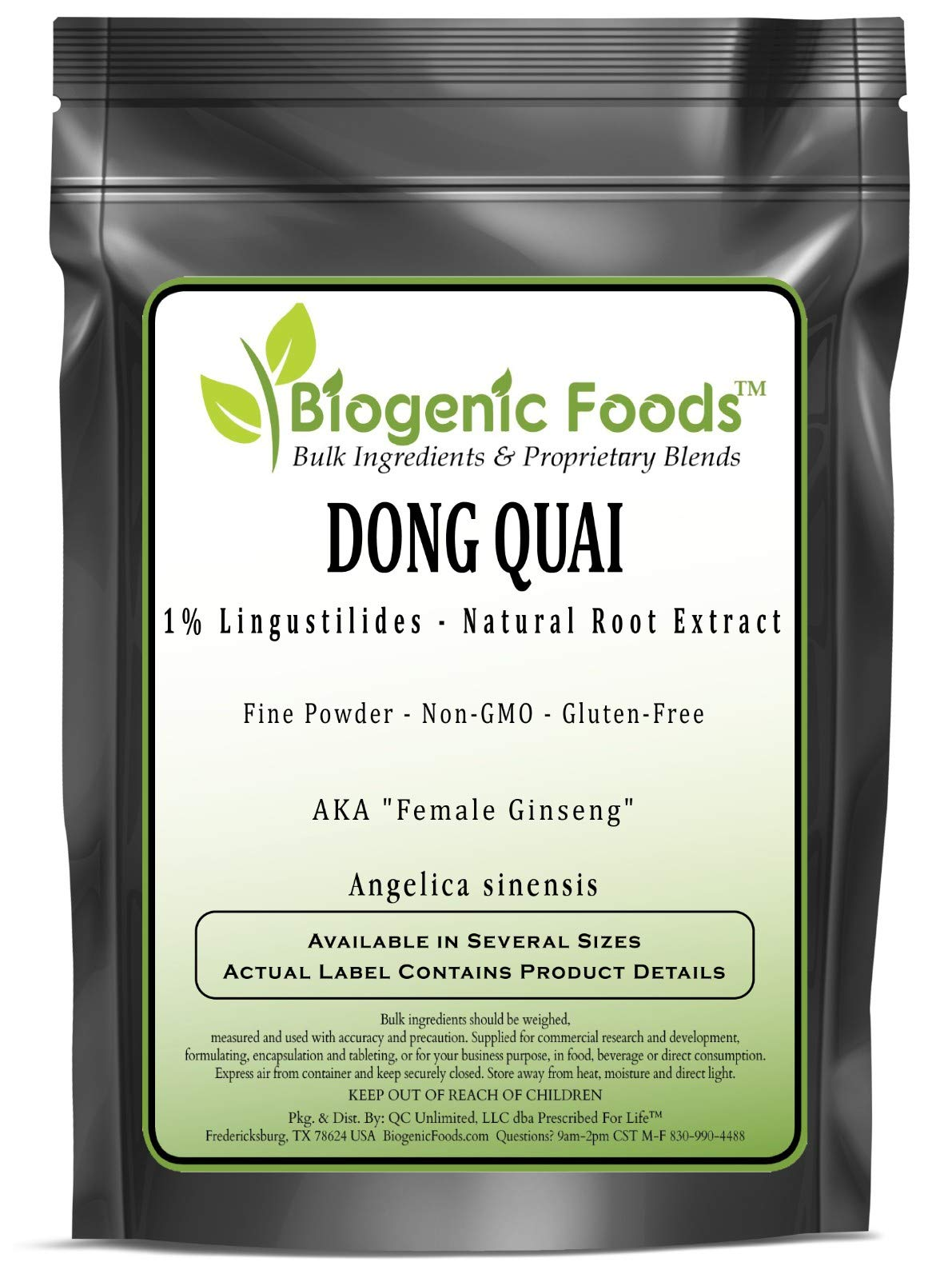 Dong Quai - 1% Lingustilides - Natural Root Fine Powder Extract (Angelica sinensis), 25 kg