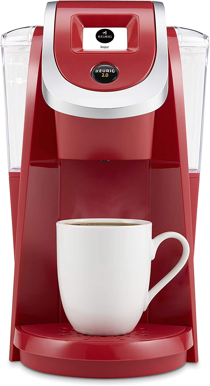 Keurig K200 Coffee Maker, Single Serve K-Cup Pod Coffee Brewer, With Strength Control, Strawberry (Renewed)