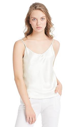 Lilysilk Top Mujer Tirantes 100% Seda Natural DE 19 MM Camiseta Tirantes para Niña Camisola Sencilla...