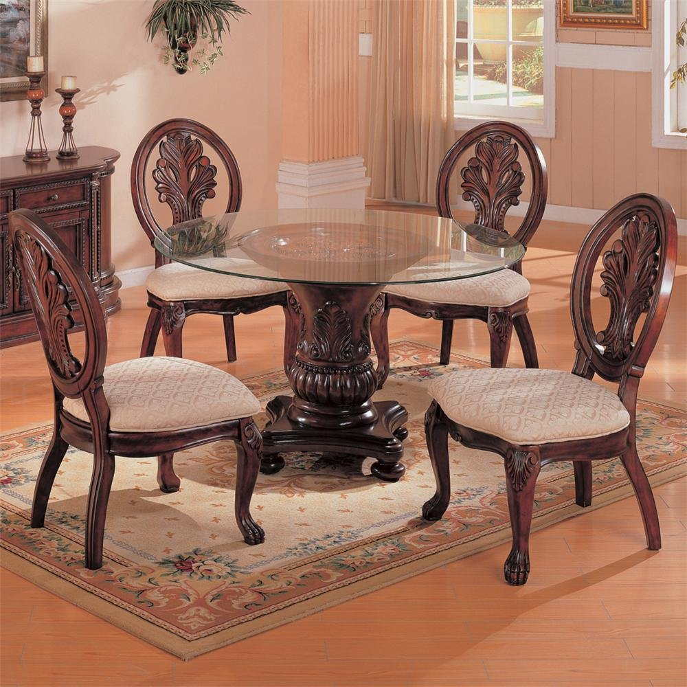 Amazon.com   Coaster Home Furnishings 101030 Traditional Dining Table Base,  Dark Cherry   Tables
