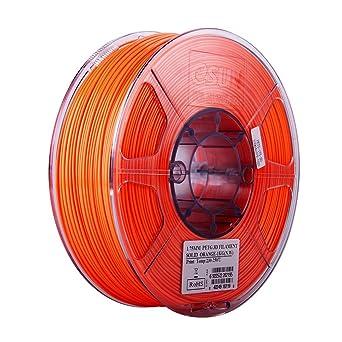 Amazon.com: Filamento eSUN 3D de 0.069 in PETG naranja ...
