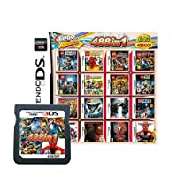 488 in 1 Game Cartridge, DS Game Pack Card Compilations, Super Combo Multicart for Nintendo DS, NDSL, NDSi, NDSi LL/XL, 3DS, 3DSLL/XL, New 3DS, New 3DS LL/XL, 2DS, New 2DS LL/XL