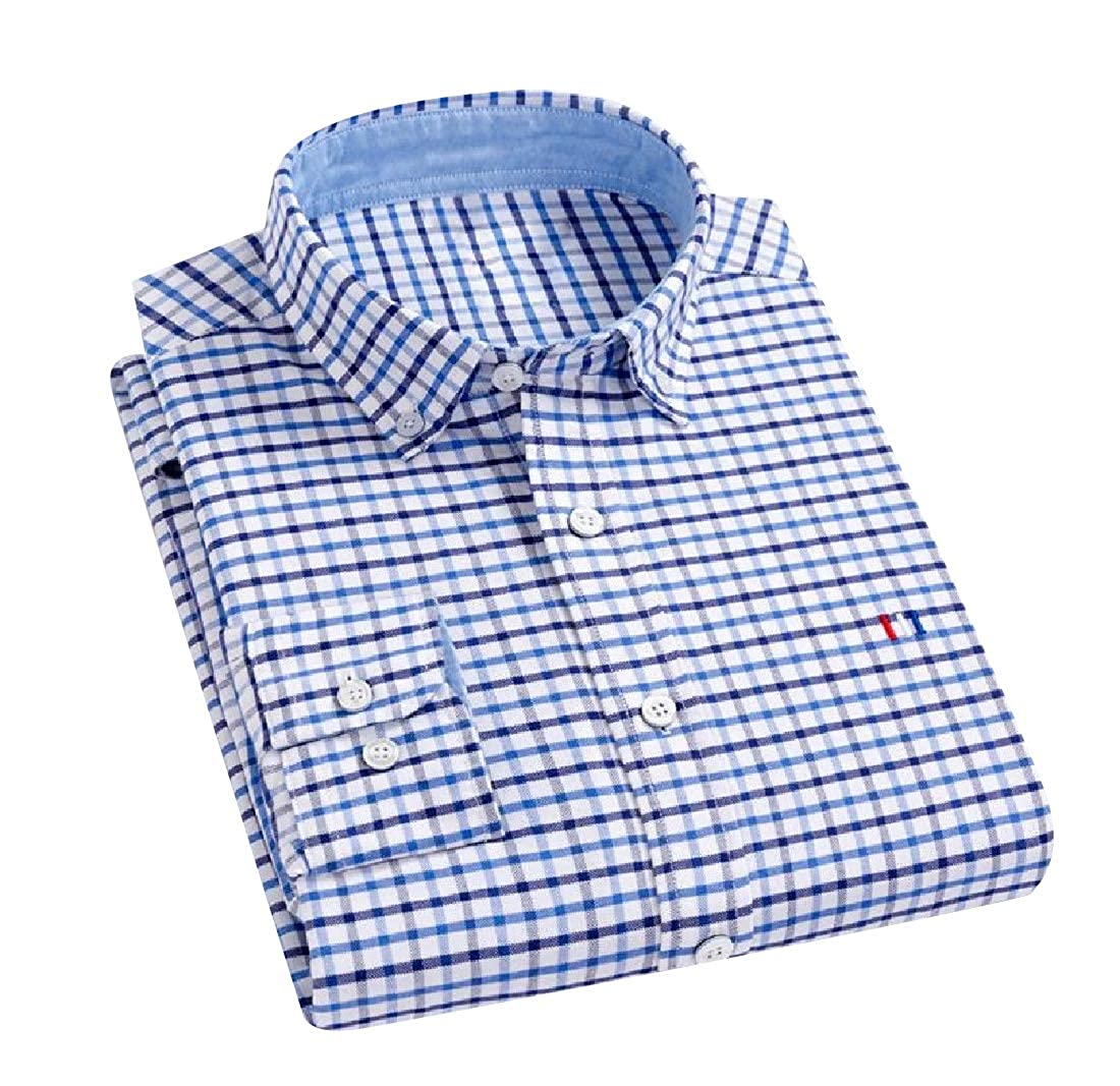 YUNY Men Fit Regular-Fit Non-Iron Single Breasted Shirt AS2 M