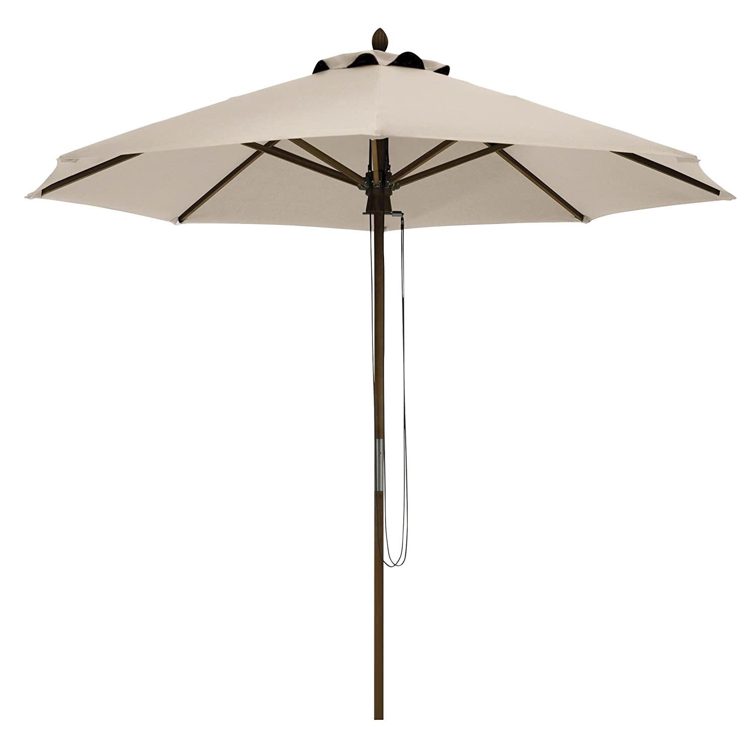 Classic Accessories Montlake FadeSafe 9-Foot Round Bamboo Patio Umbrella, Antique Beige