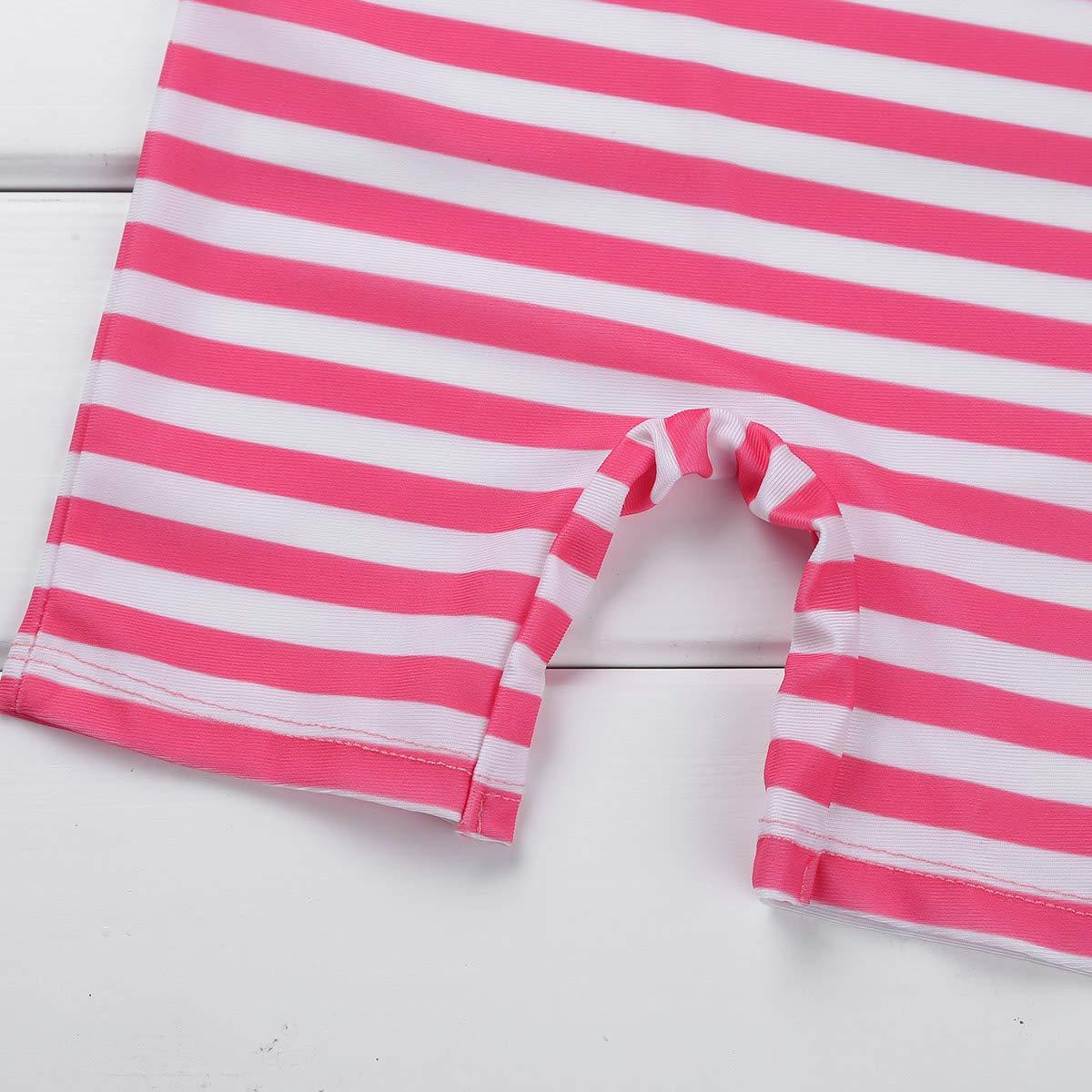 Freebily Toddler Baby Girls One Piece Zip Rash Guard Sun Protection Swimsuit Swimwear Wetsuit UPF 50+