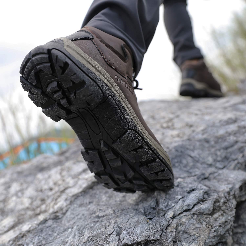 Anti-Rutsch Trekking-/& Wanderstiefel Atmungsaktive Outdoorschuhe Mid Bergschuhe f/ür M/änner Wandern Reisen Arbeit Sports Schwarz Braun CAMEL CROWN Herren Wanderschuhe Wasserdicht