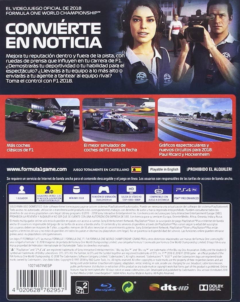 F1 2018 Headline Edition, XBOX One: Amazon.es: Videojuegos