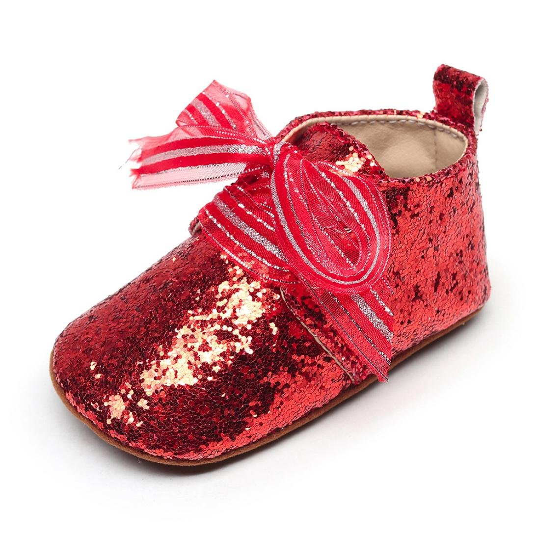 Putars Baby Shoes Infant Girls Fashion Sequins Bow Summer Sandals First Walkers