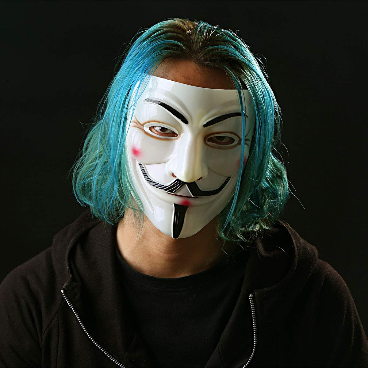 Alvivi Unisex Vendetta Maske Mask Guy Fawkes Anonymous Replika Demo