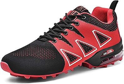GNEDIAE Hombre KR-5 Caña Baja Calzado de Trail Running para Hombre Zapatos de Cordones Rojo 39 EU: Amazon.es: Zapatos y complementos