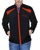 AWG Mens Black Premium Dryfit Music Jacket with inbuilt Earphone