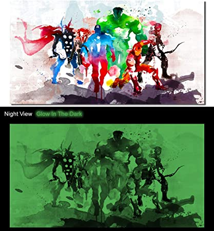 20x30 Inches by Panther Print THE AVENGERS COMIC BOOK SUPERHERO FRAMED CANVAS PICTURE ART PRINT