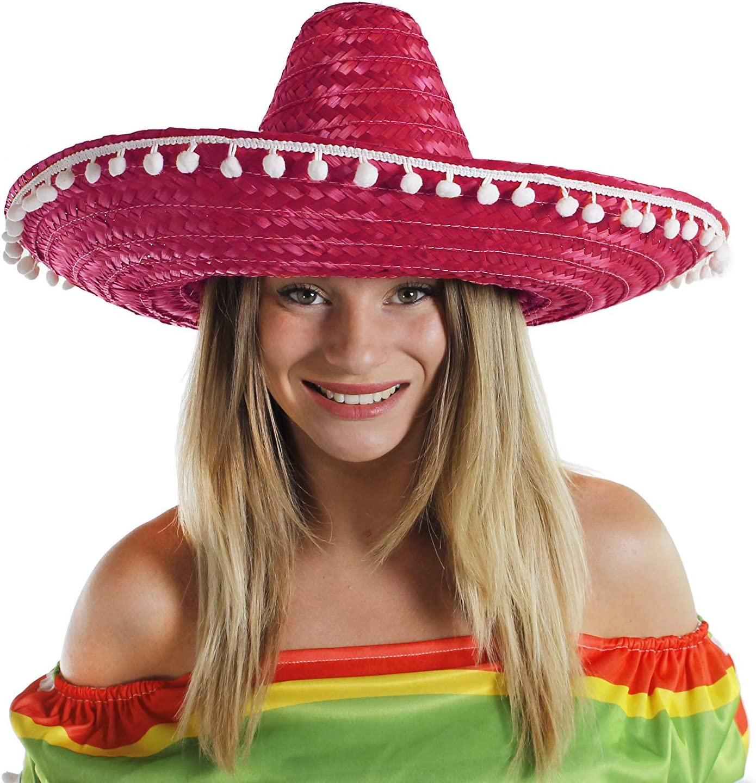 Para hombre mexicano Sombrero + bigote + Jumbo Cigar gorro de ...