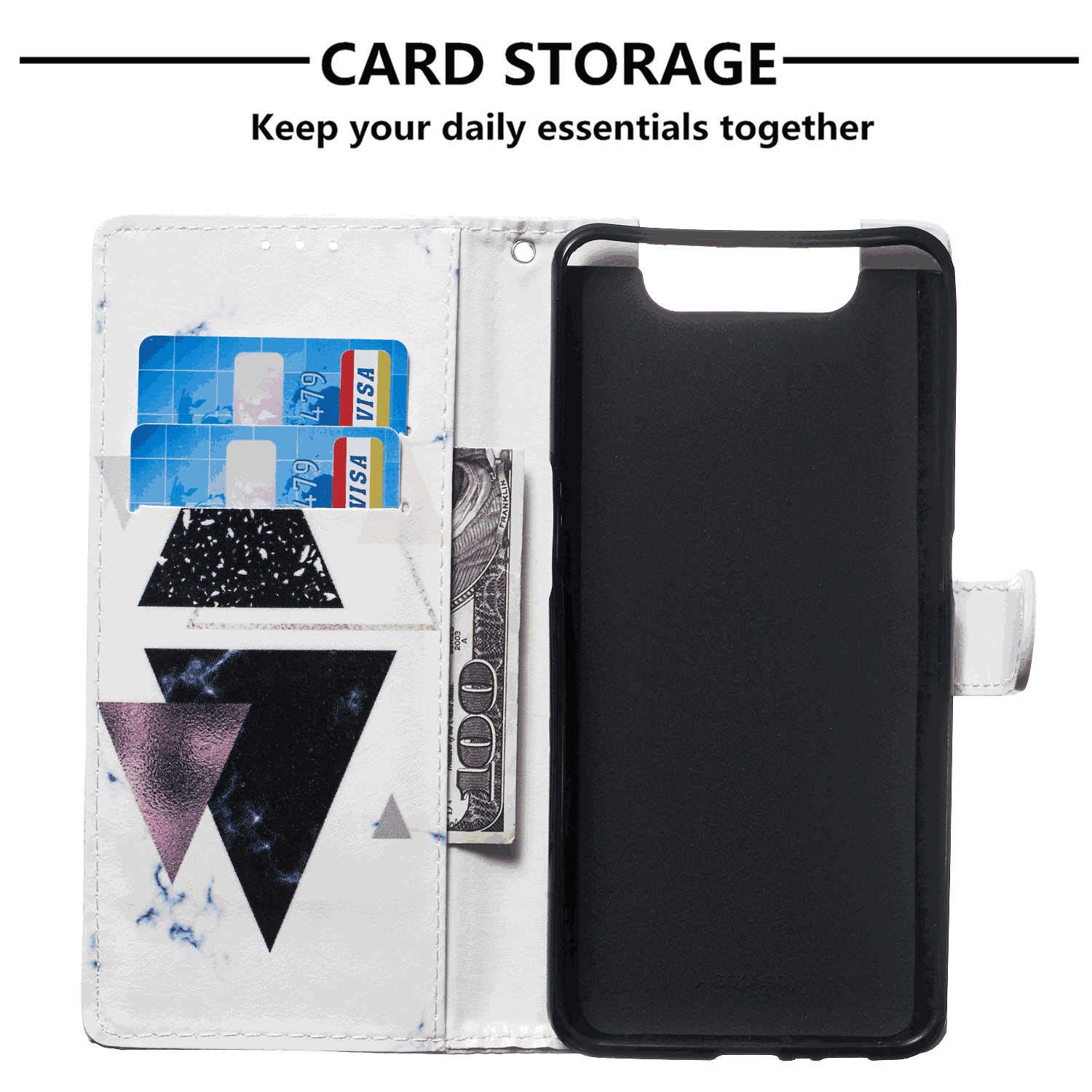 Cover for iPhone Xs Leather Card Holders Premium Business Kickstand Cell Phone Cover with Free Waterproof-Bag Holistic iPhone Xs Flip Case
