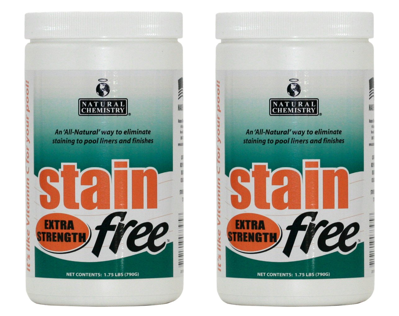 2) Natural Chemistry 07395 STAINfree Extra Strength Metal Stain Remover Buckets