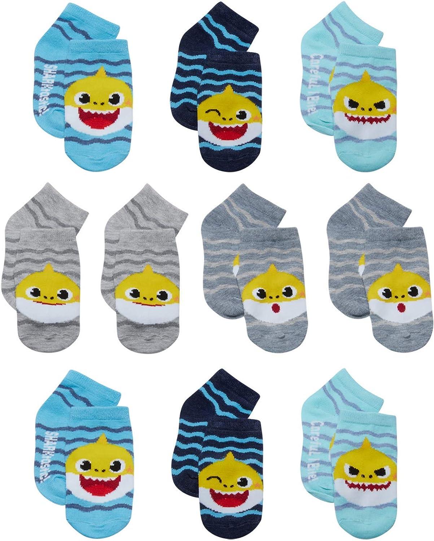 Nickelodeon Little Boys' and Girls 10-Pack Socks - Baby Shark Ankle Socks (Infant/Toddler)