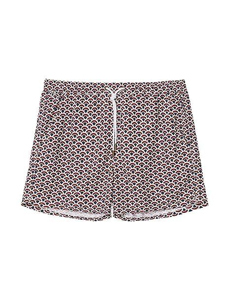 7916dc4637 Intimissimi Mens Mid-Length Swim Trunks with Majolica Print: Amazon.co.uk:  Clothing