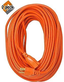 coleman cable 23098803 02309 16/3 vinyl outdoor extension cord, orange, 100-