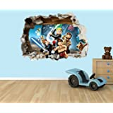 Lego Star Wars 3D Effect Smashed Hole In Wall Vinyl Sticker   Suitable For  Kids Bedroom Part 88