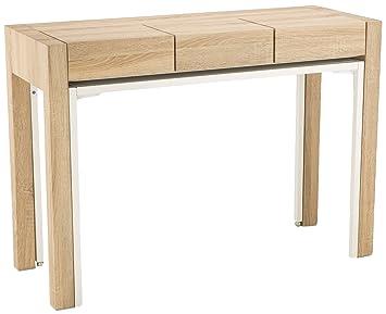 Soliving bureau bois blanc  cm amazon cuisine