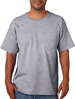product image for Bayside Mens USA-Made Short Sleeve T-Shirt 5070 - Medium - Dark Ash