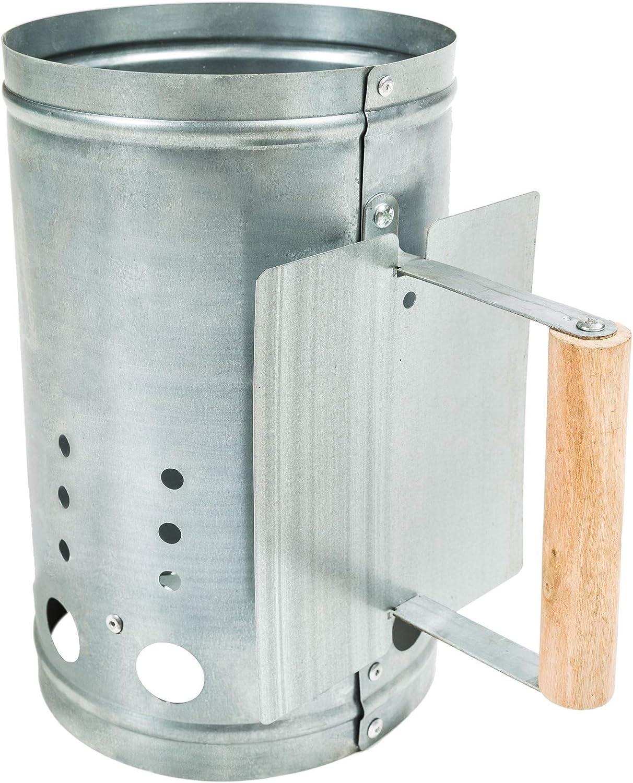 TecTake Encendedor para Barbacoa carbón Chimenea Cubo ascuas BBQ Grill Parrilla galvanizado