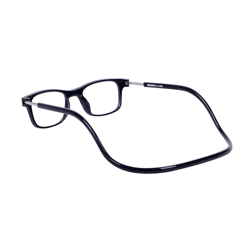 a037927051 Magnéticas Gafas de lectura Plegables Rojo +1.5 QIXU Presbicia Vista para  Hombre y Mujer Montura ...
