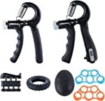 Ufree Grip Strength Trainer 7 Pack Hand Grip Strengthener Forearm Workout