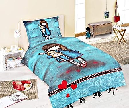 beige; Bettbezug: 140 cm x 200 cm Kissenbezug: 70 cm x 90 cm; 100/% Baumwolle Halantex Gorjuss Bettw/äsche von Santoro; lila