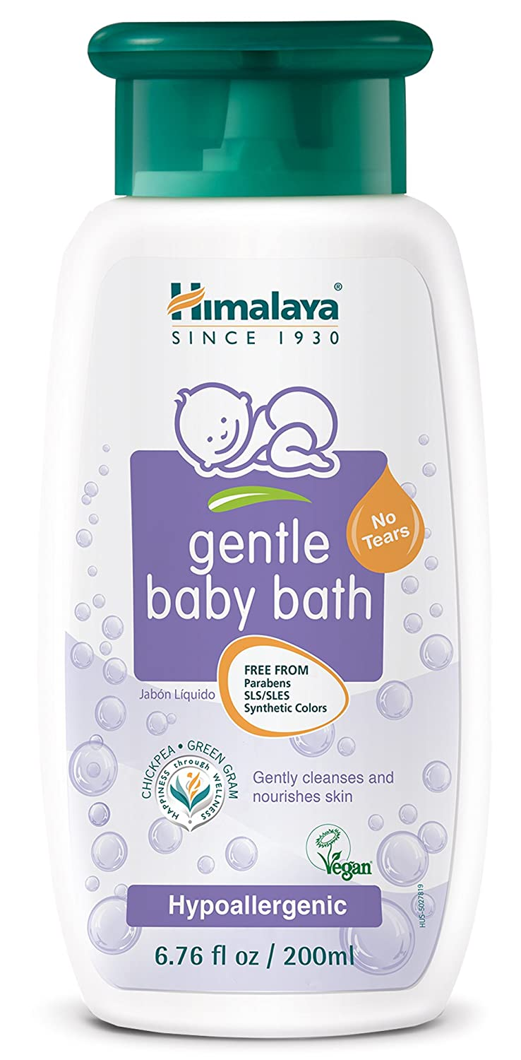 Himalaya Gentle Baby Bath, Baby Wash, Free-From Parabens, SLS/SLES and Phthalates, Dermatologist Tested, 6.76 oz (200 ml) 3 PACK