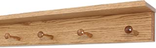 """product image for Oak Shaker Peg Rack with 4 inch Shelf (Cherry, 23"""" with 4 pegs)"""