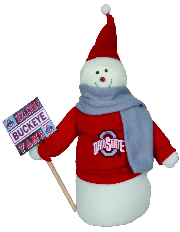 12 Santa/'s Workshop Santas Workshop OHB071 Ohio State Snowman Fan Figurine 12