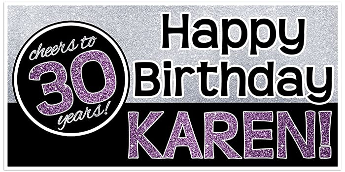 amazon com 30th 40th 50th birthday banner personalized party