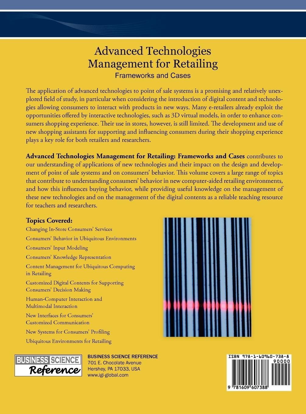 Advanced Technologies Management for Retailing: Frameworks and Cases:  Eleonora Pantano: 9781609607388: Books - Amazon.ca