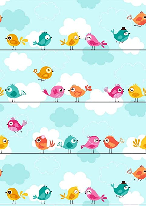 Dibujos Animados Fondo Pájaro Fotografía Azul Rosa Diseño De Pájaros