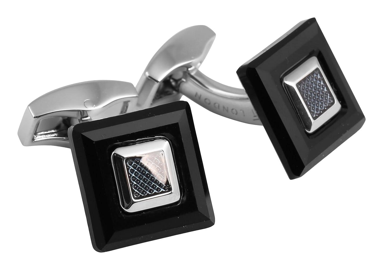 Tateossian  -    Metalllegierung Quadratschliff   schwarz Cristal