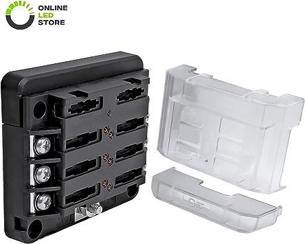 New Fuse Block Holder Box Automotive 6 Way ATC ATO Blade Led Indicator Cover Car
